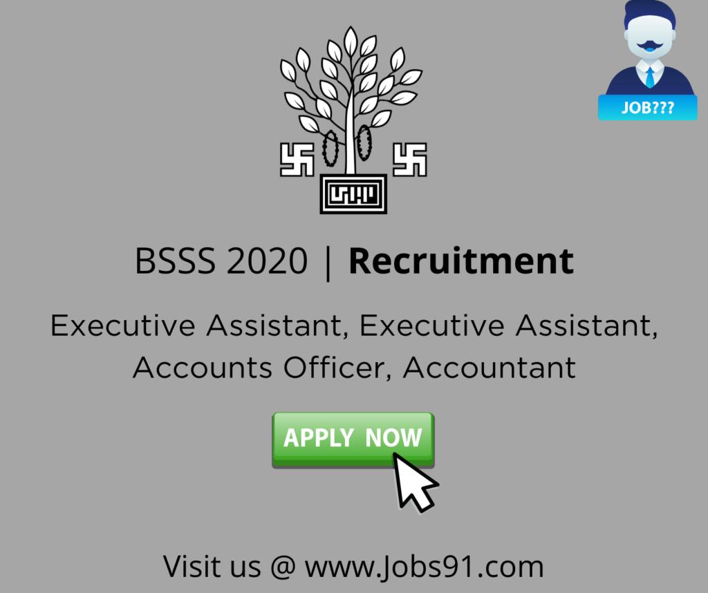 BSSS Executive Assistant Jobs @ Jobs91.com