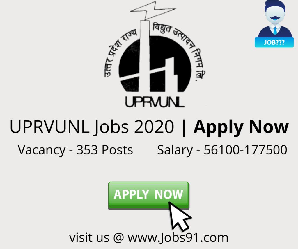 UPRVUNL multiple post apply now @ Jobs91.com