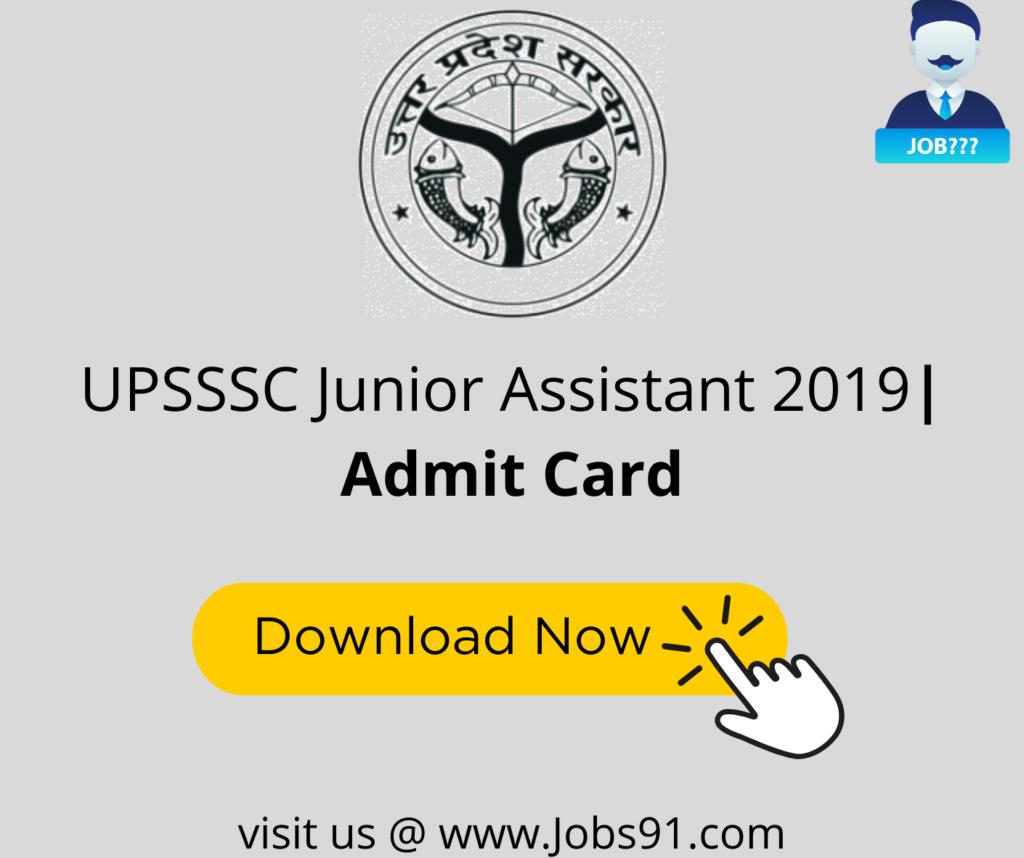 UPSSSC Junior Assistant Admit Card @ Jobs91.com