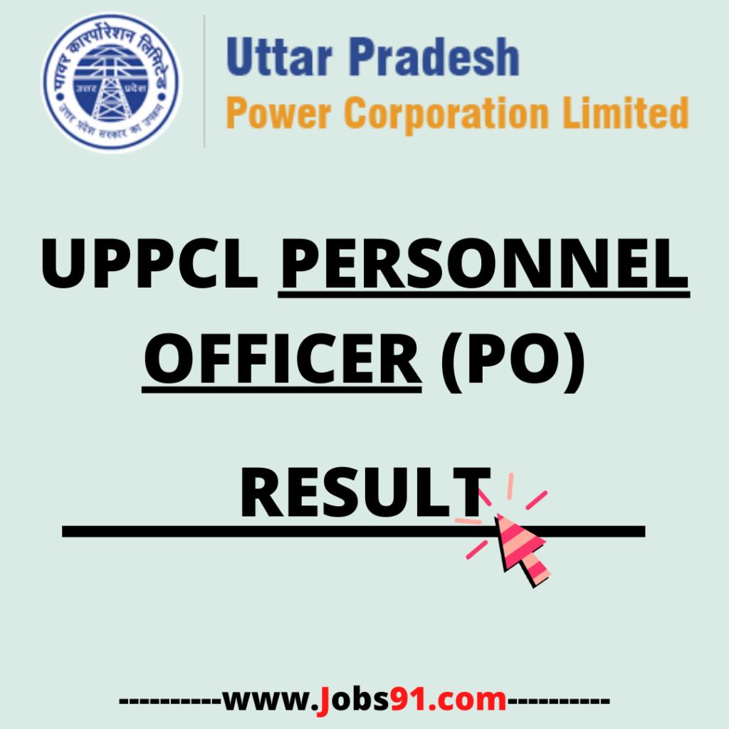 UPPCL Personnel Officer Result 2020 at Jobs91.com
