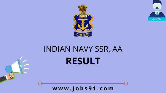 Indian Navy SSR & AA Result 2020