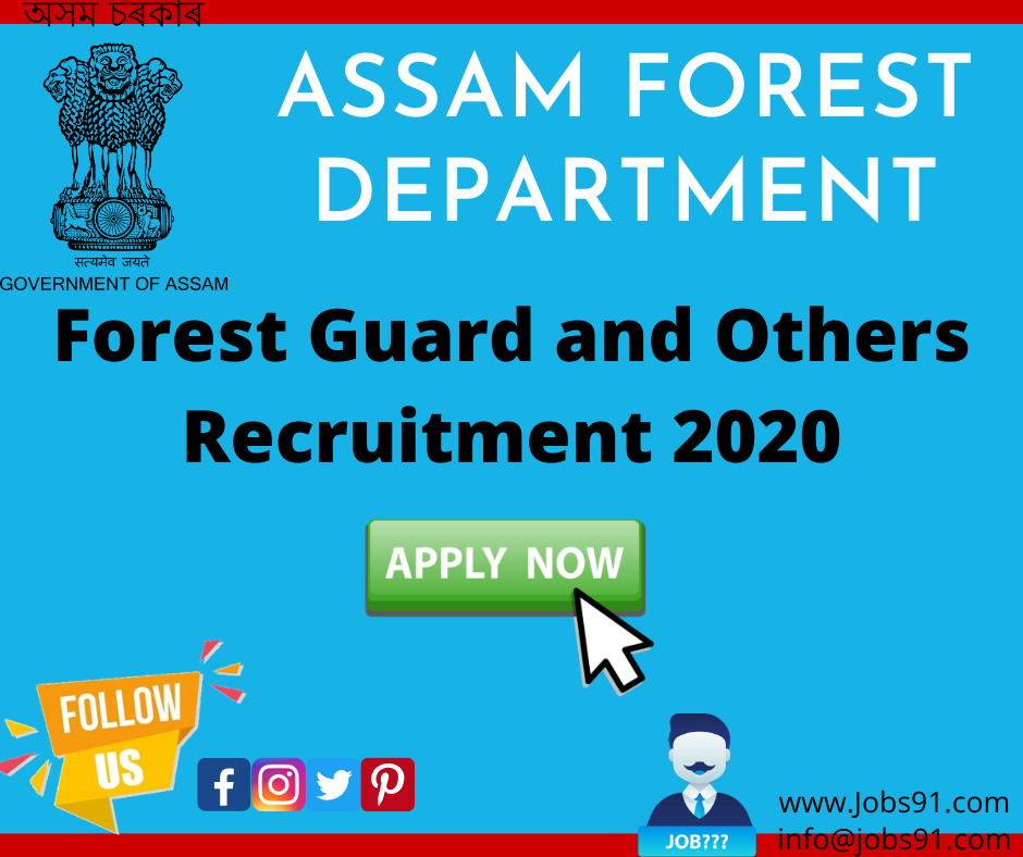 Assam Forest Department Recruitment @ Jobs91.com