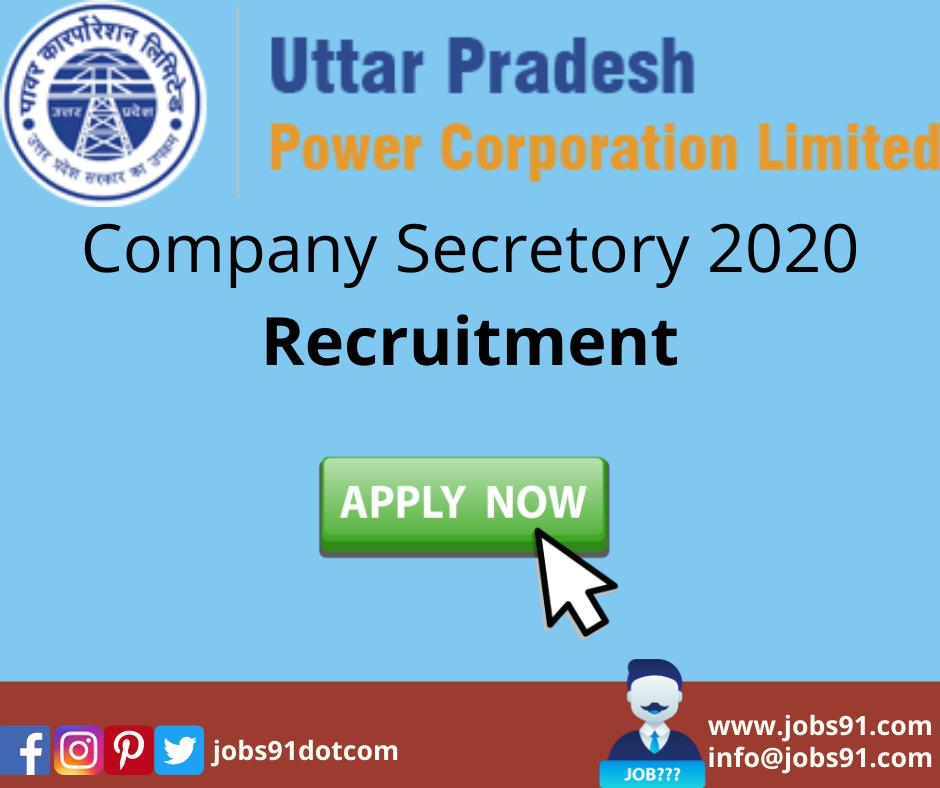 UPPCL Company Secretory Recruitment 2020 @ Jobs91.com