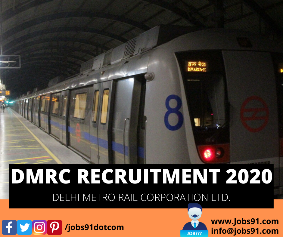 DMRC General Manager Recruitment @ Jobs91.com