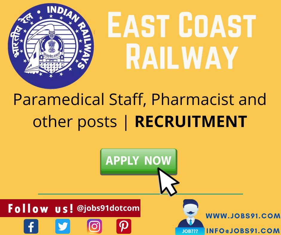 East Coast Railway Recruitment @ Jobs.com