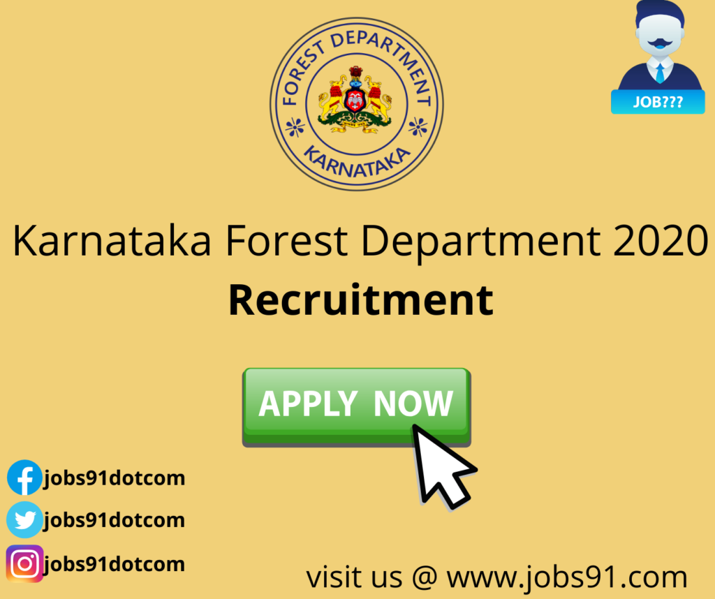 Karnataka Forest Department Recruitment 2020 @ jobs91.com