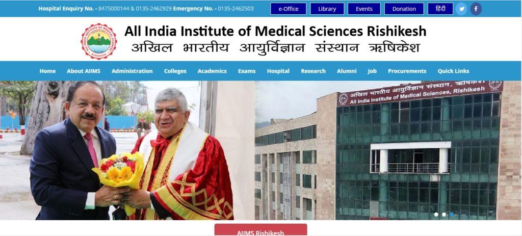 AIIMS Rishikesh Recruitment 2020 @ Jobs91.com