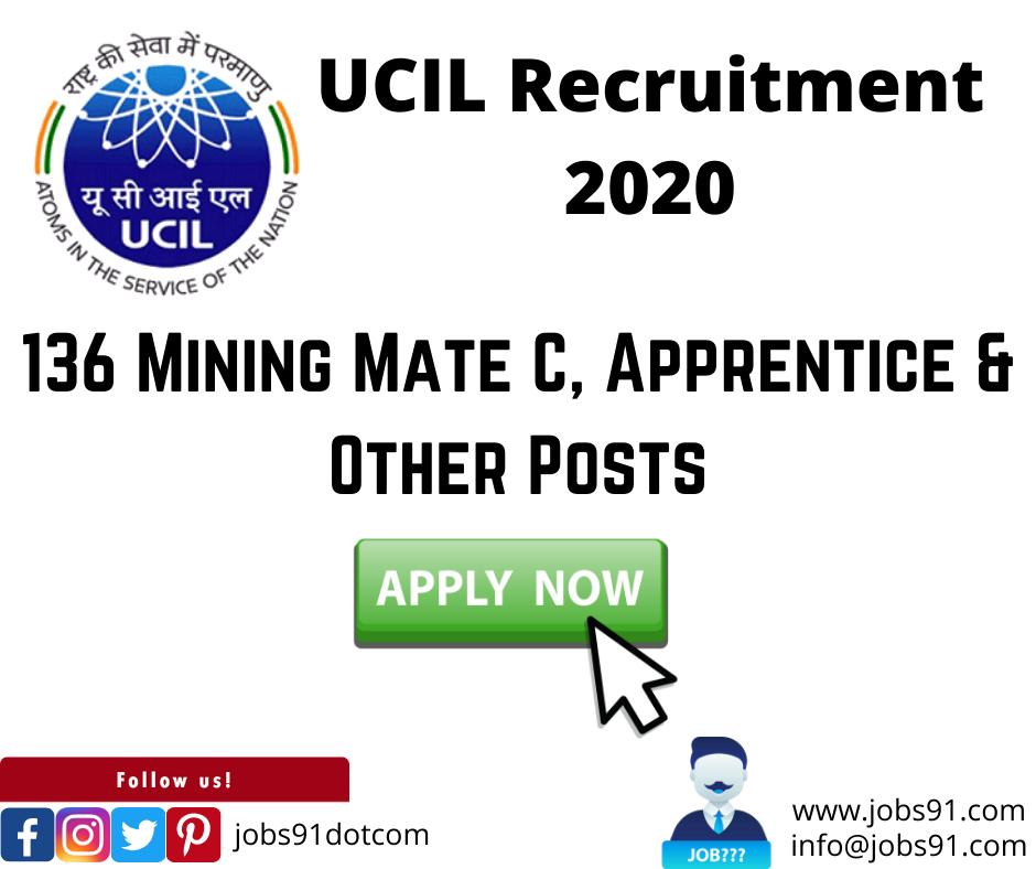 UCIL Recruitment @ Jobs91.com