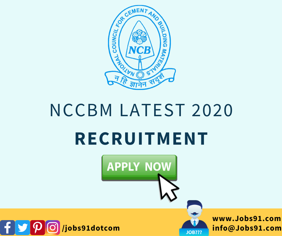 NCCBM Project Engineer and Laboratory Assistant Jobs 2020 @ Jobs91.com