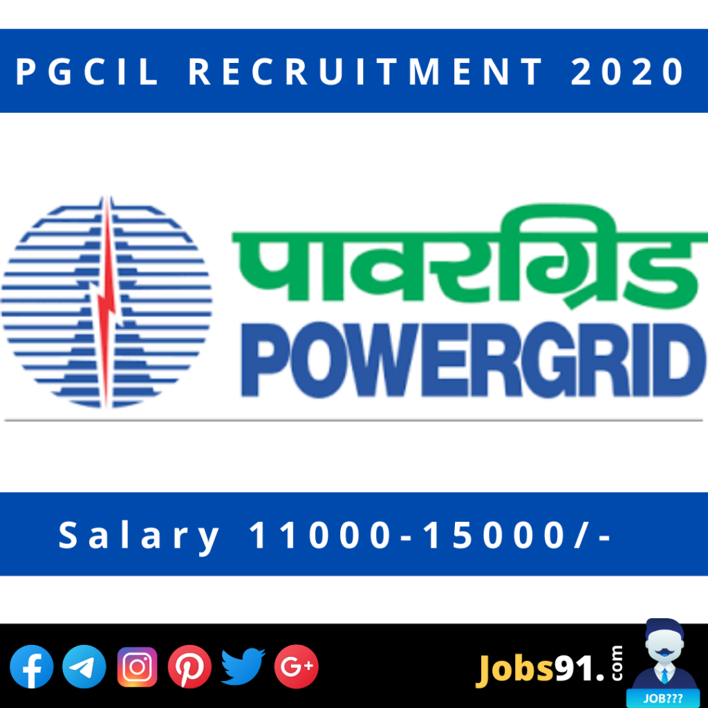 PGCIL Odisha Region Apprentice Recruitment 2020 @ Jobs91.com