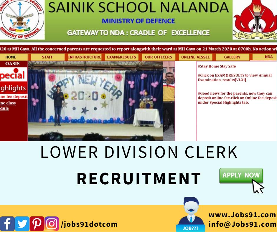SAINIK SCHOOL NALANDA @ Jobs91.com