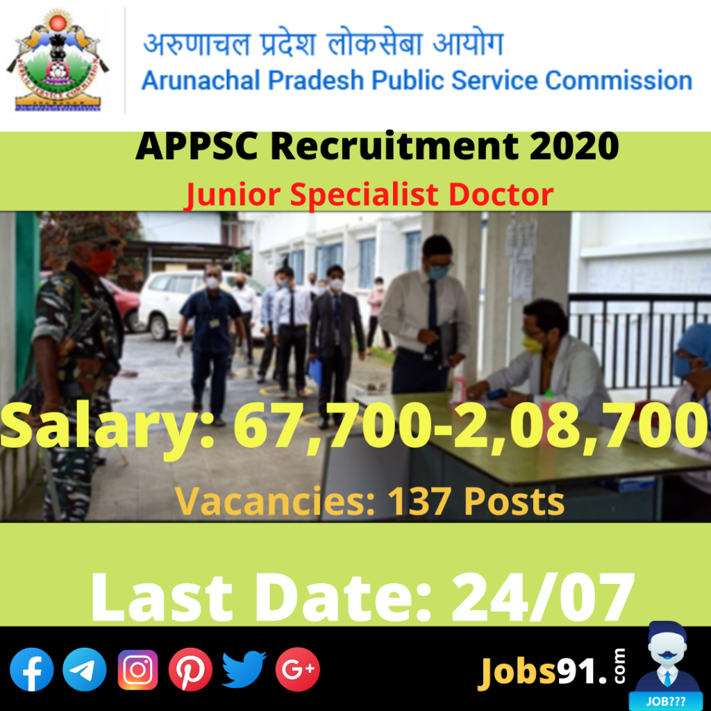 APPSC Junior Specialist Doctor Recruitment 2020 @ Jobs91.com