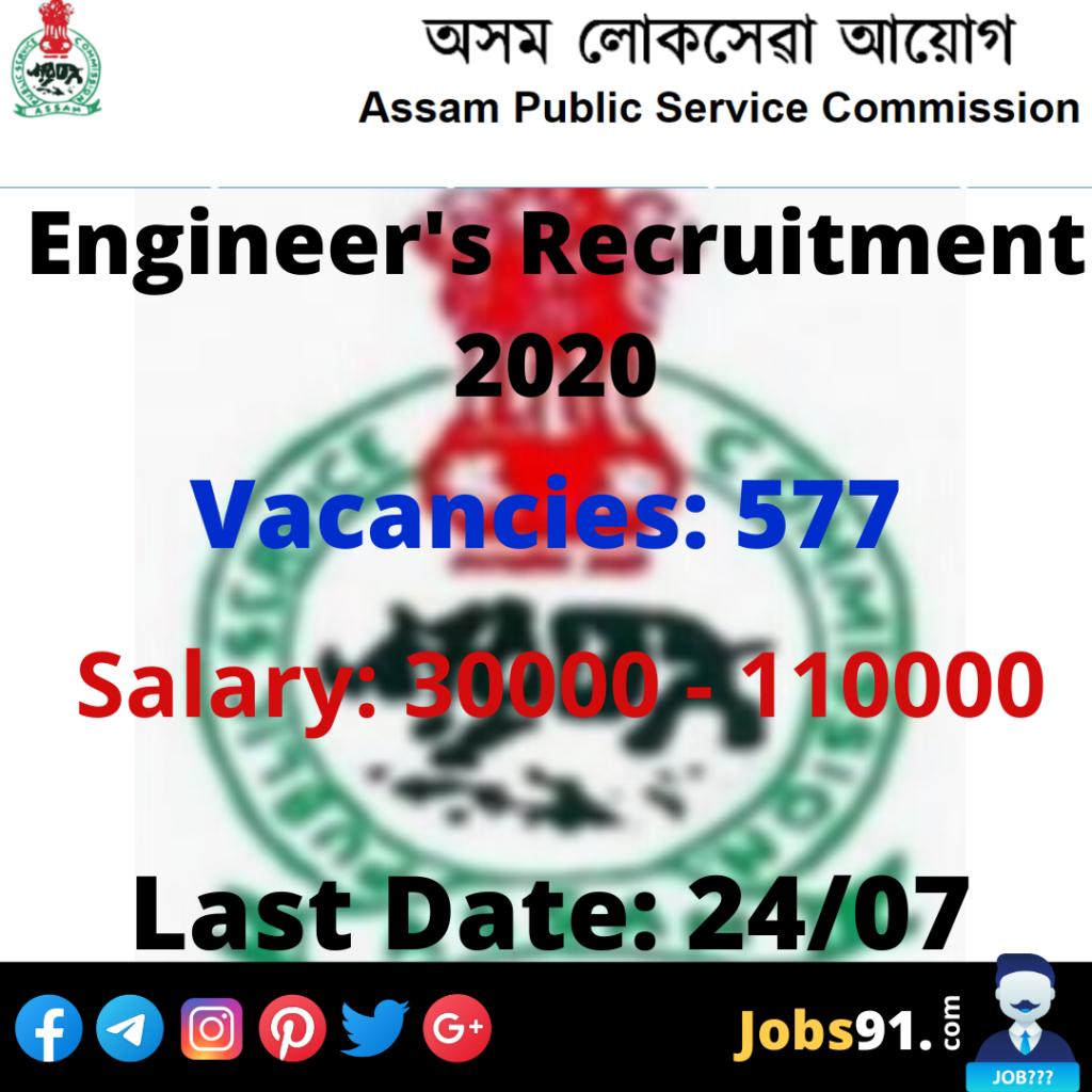 APSC Engineers Recruitment 2020 @ Jobs91.com