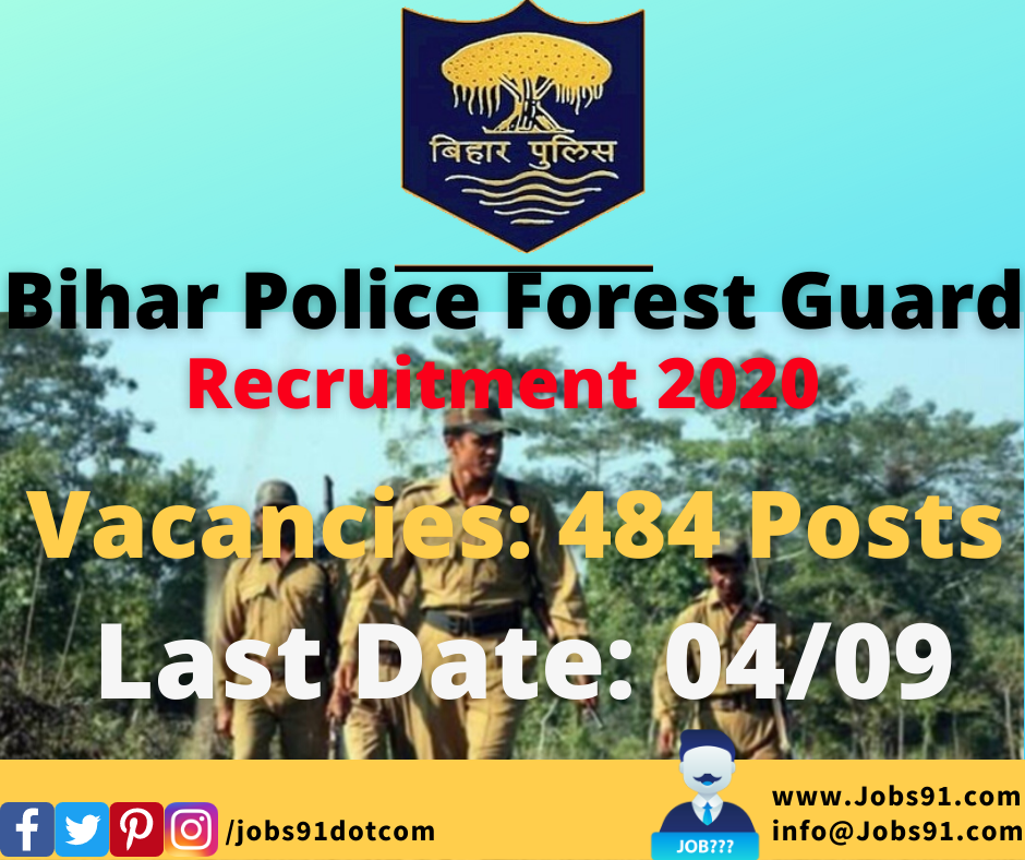 Bihar Police Forest Guard Recruitment 2020 @ Jobs91.com