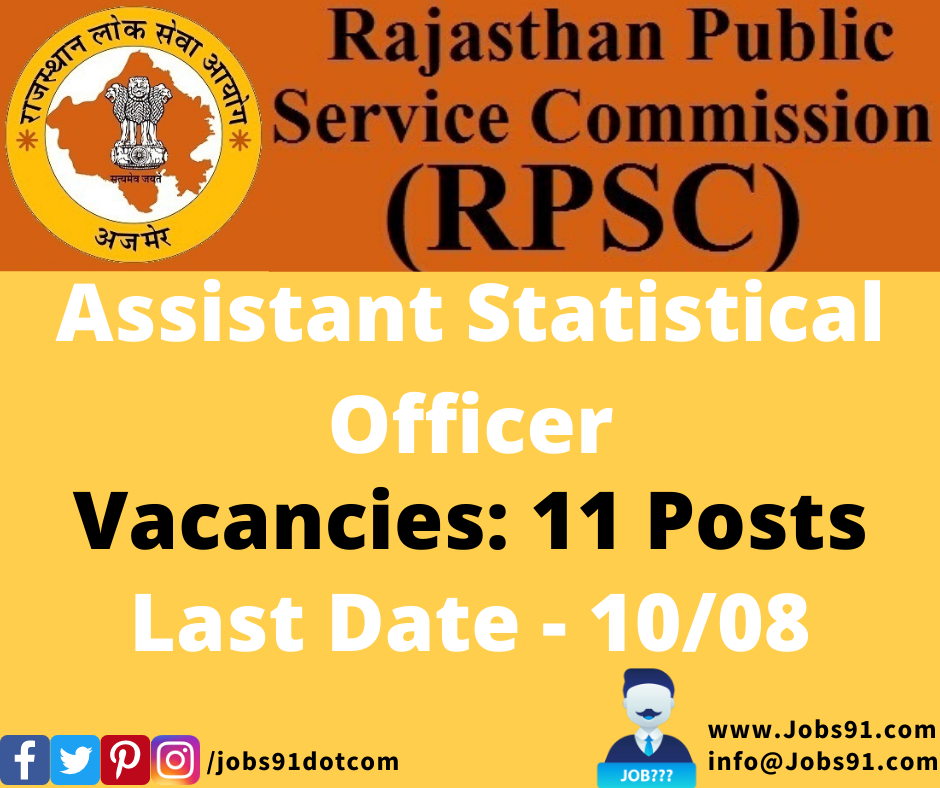 RPSC ASO Recruitment 2020 @ Jobs91.com
