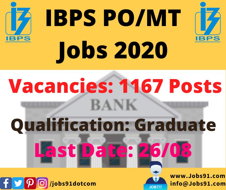 IBPS PO Recruitment 2020 @ Jobs91.com