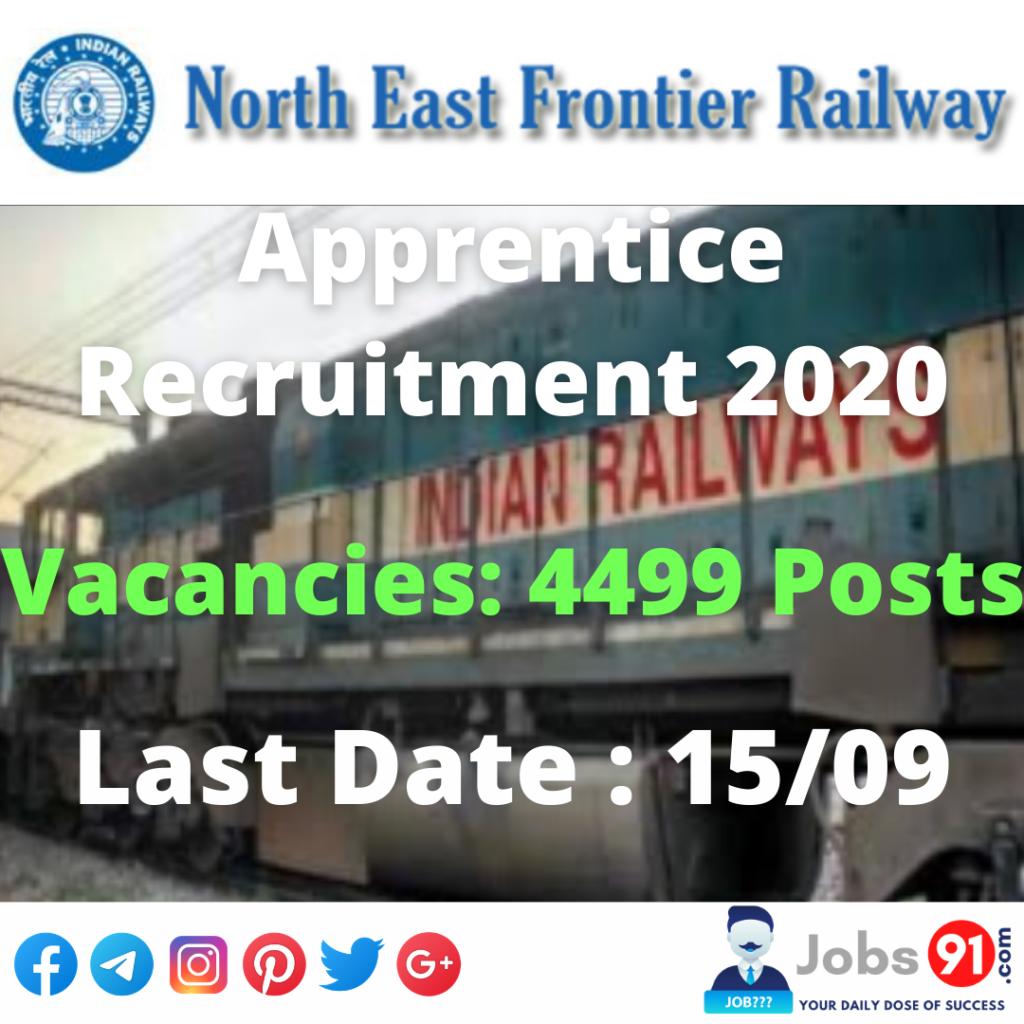 NFR Apprentice Recruitment 2020 @ Jobs91.com