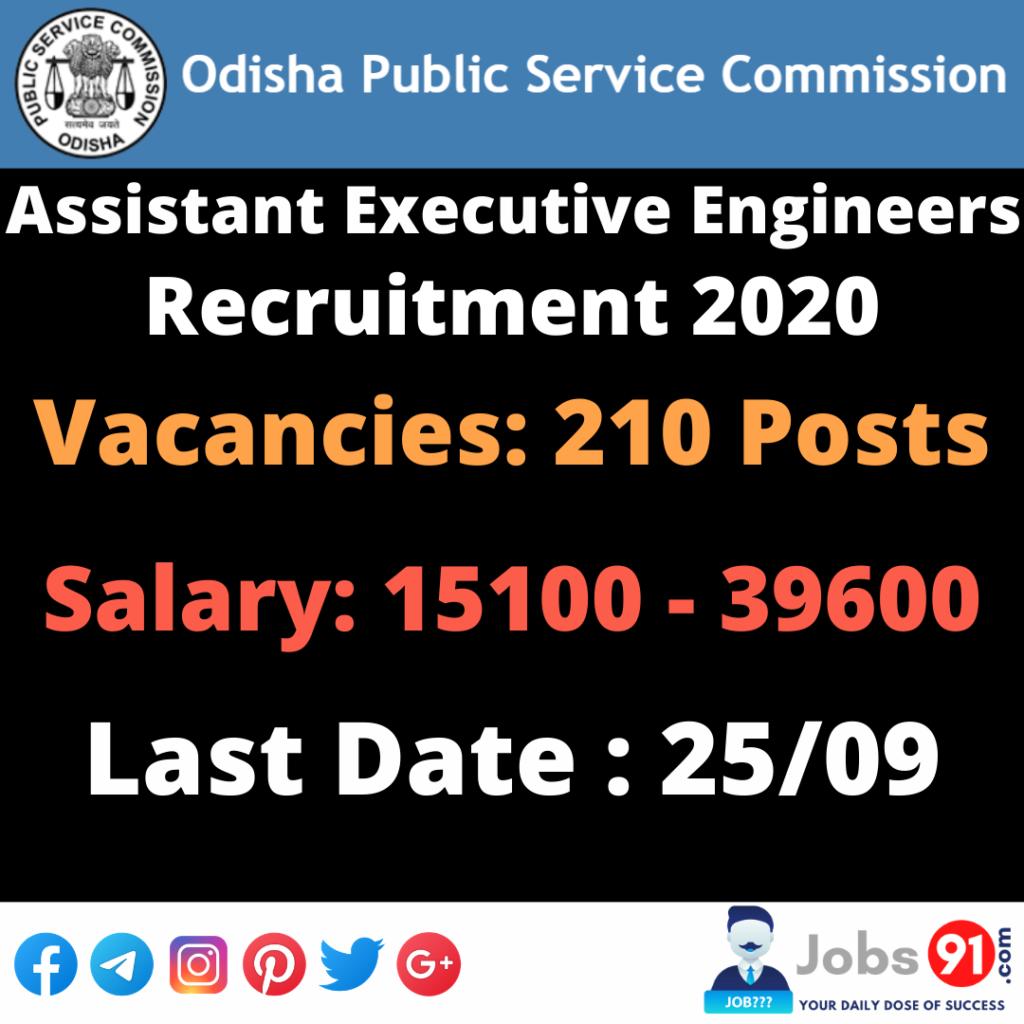OPSC AEE Civil Recruitment 2020 @ Jobs91.com