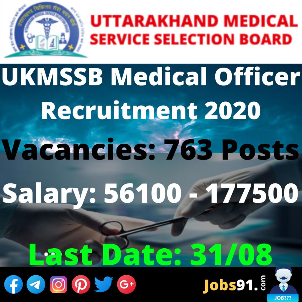 UKMSSB Medical Officer Recruitment 2020 @ Jobs91.com