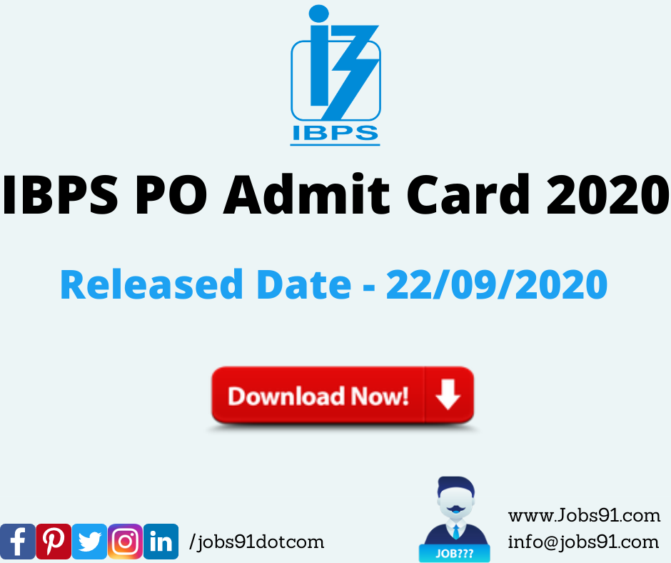IBPS PO Admit Card 2020 Released