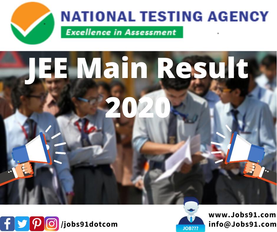 JEE Main Result 2020 @ Jobs91.com