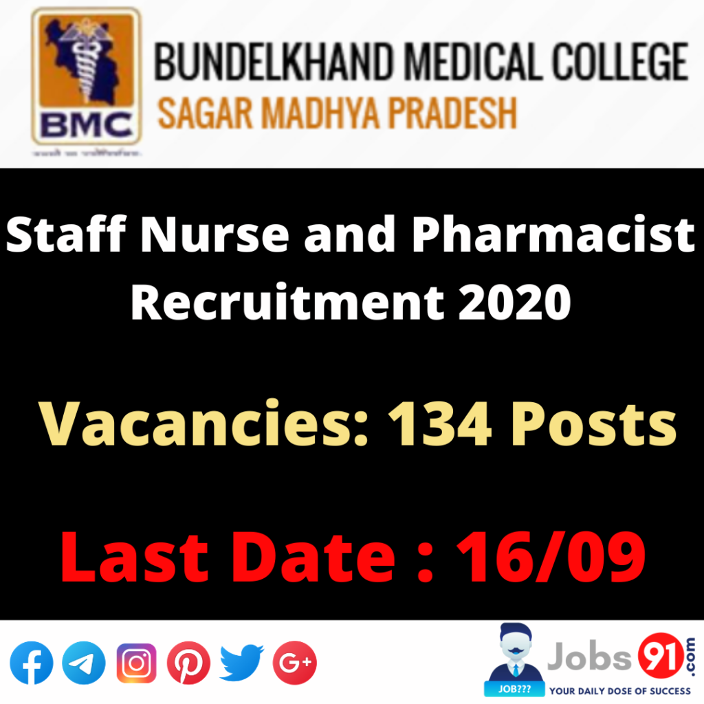 MP Staff Nurse and Pharmacist Online Form 2020 @ Jobs91.com