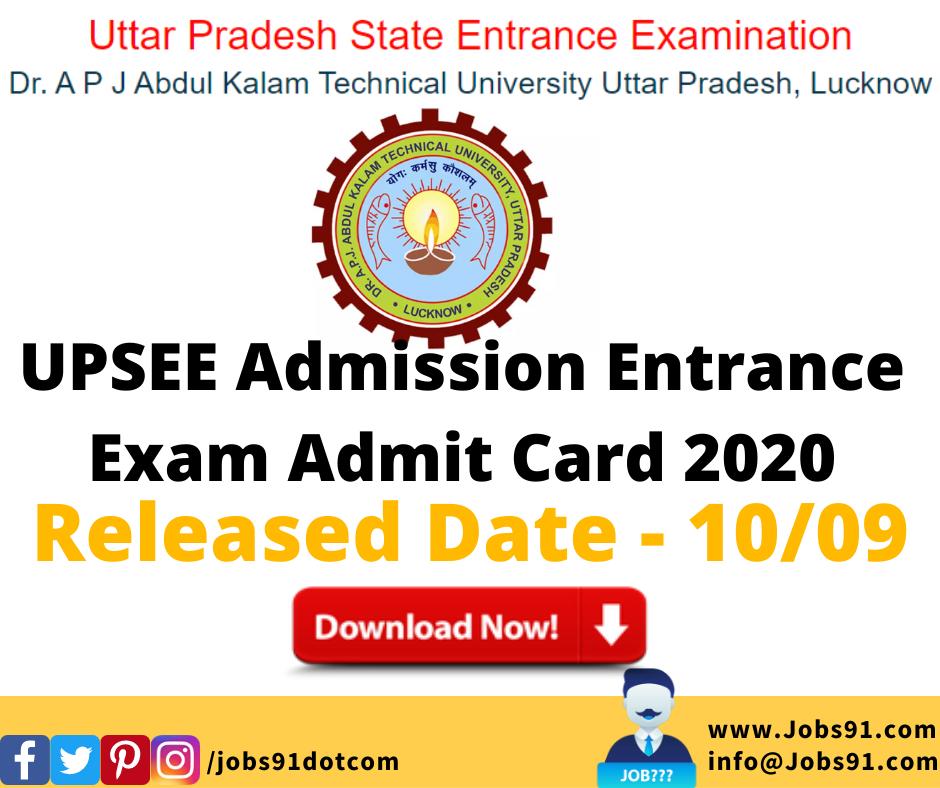 UPSEE Admission Entrance Exam Admit Card 2020 @ Jobs91.com
